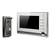 7 Inch Recordable Video Door Phone Intercom With Photo Shooting Video Recording DVR SD Card Support