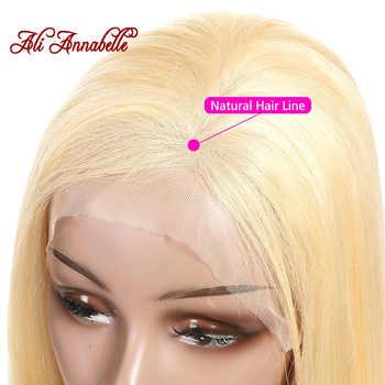 アリアナベル 613 ブラジルストレートレースフロント人毛ウィッグ 13*6 事前摘み取ら 150% 密度でブロンドの Remy 毛
