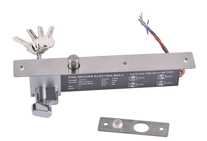 High Quality DC 12V Fail-secure Signal Output Electric Bolt Lock with Key 12v 5 wire electric bolt lock electric drop bolt lock with bolt status detection output fail safe fail scure