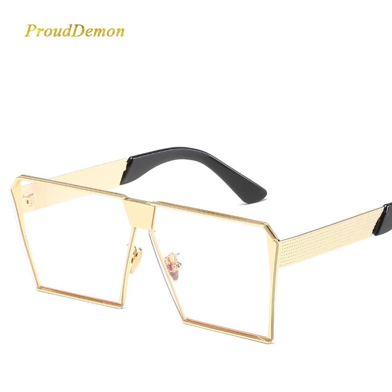 Modemarke Designer Platz Flache linse Sonnenbrille Spiegel Frauen - Bekleidungszubehör - Foto 5