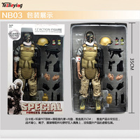 1/6 Scale NB03 Wounded soldier Military Army Combat Uniform Army Game Toys Soldier Set 12 Inch Action Figure Model Joint movable