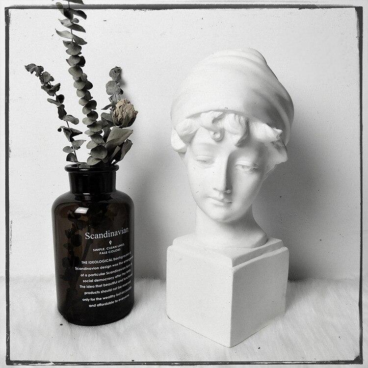 Croquis européen Portrait résine tête de gypse modèle maison ménage bijoux Sculpture Portrait décoration