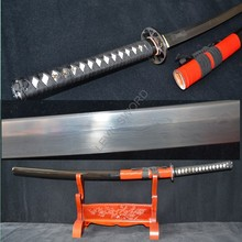 41″ Damascus Folded Steel Blade Japanese Samurai Katana handmade Sword Sharp Knife Battle Ready full tang
