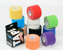 Retail box packaging 5cmx5m  tape kinesiology tape  muscle sport tape,  3rolls/lot