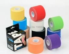 Vendita al dettaglio di imballaggio scatola di 5cm x 5m nastro di cinesiologia del nastro nastro muscolo sport, 3 rolls/lot