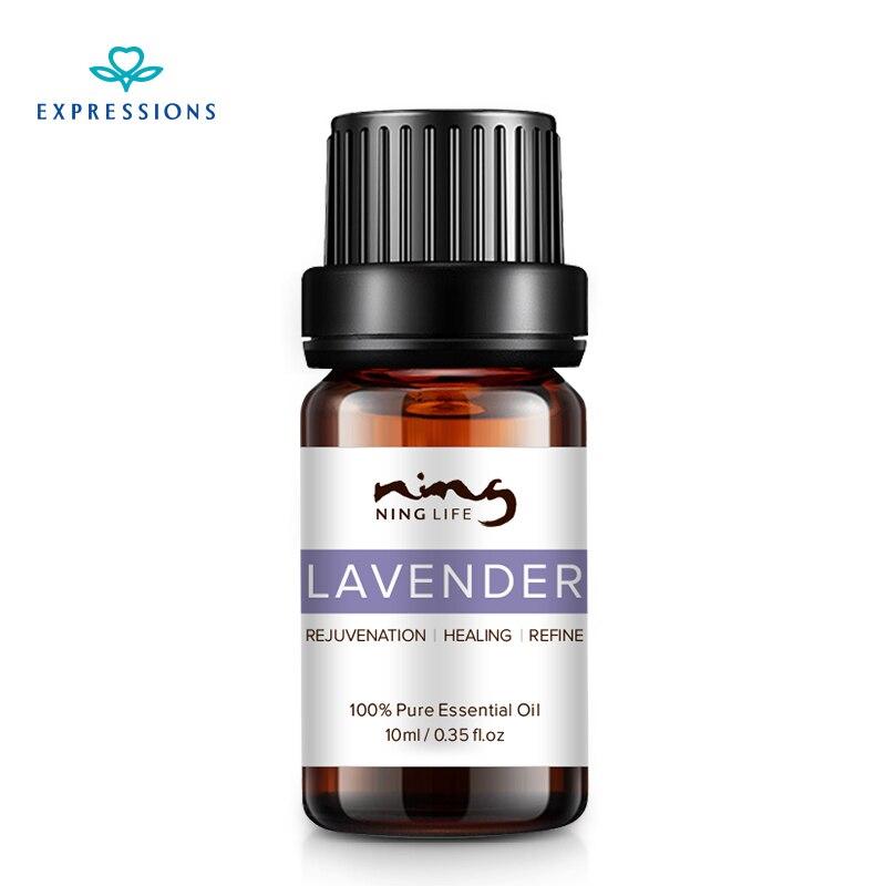 10 ML expresiones marca famosa de lavanda Natural, aceite esencial de aromaterapia acné cicatriz reparación ayuda a dormir.