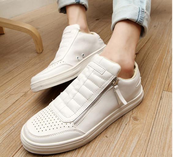 zapatos blancos de de de hombres los verano zapatos 2014 casual de hombres los casuales muchachos en cremallera zapatos Calzado zapatos hombre de nuevos del wgP6PqI