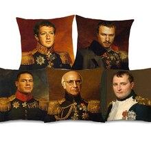 Наволочки для подушек с изображением Барака Обамы, Робера Паттинсона, ручной рисунок, Джон сена,, Charlie Sheen, наволочка для подушек, льняной чехол для подушек