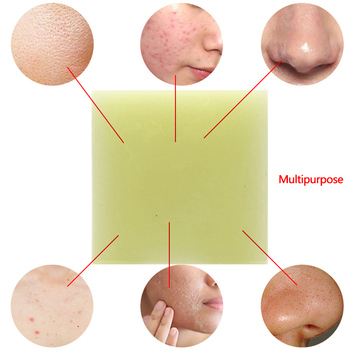 100g Sea Salt Handmade Soap Face Body Cleaner Removal Pimple Acne Treatment Skin Care Whitening Soap blanqueador piel jabones 1