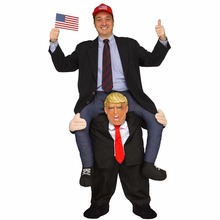 Donald Trump Pants Men Cosplay Clothes Ride On Me Mascot Costumes Carry Back Novelty Toys Halloween Party Dress Up Fun Disfraz 2019 newest trump pants party unicorn animal dress up ride on me mascot costumes carry back novelty toys party cosplay clothes