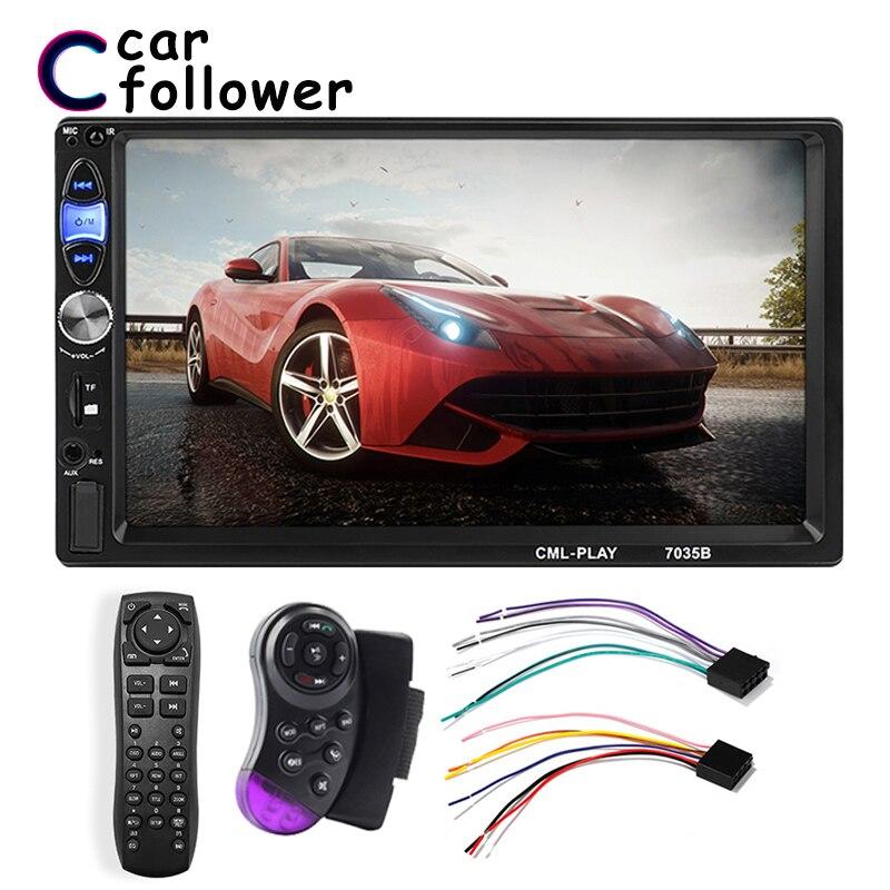 2 Din Car Radio 7 HD Autoradio Multimedia Player 2DIN Touch Screen Auto Audio Car Stereo MP5 Bluetooth USB TF FM Camera|Car Radios| |  - title=