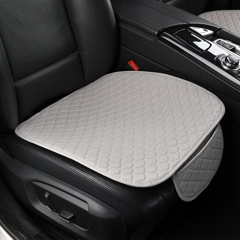 Linen Car Seat Cover Comfortable Front Auto Seat Cushion Non-slip Breathable Protector Mat Pad Four Season Interior Accessories
