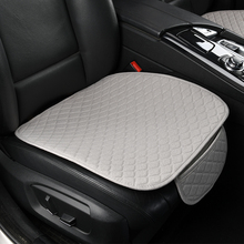Linen Car Seat Cover Comfortable Front Auto Seat Cushion Non-slip Breathable Pro