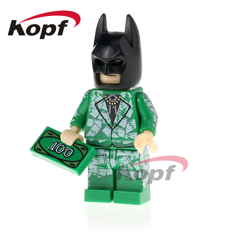 20Pcs Building Blocks Super Heroes Batman Alfred Crazy Quilt Green Arrow Apache Chief Dolls Bricks Children Gift Toys PG418