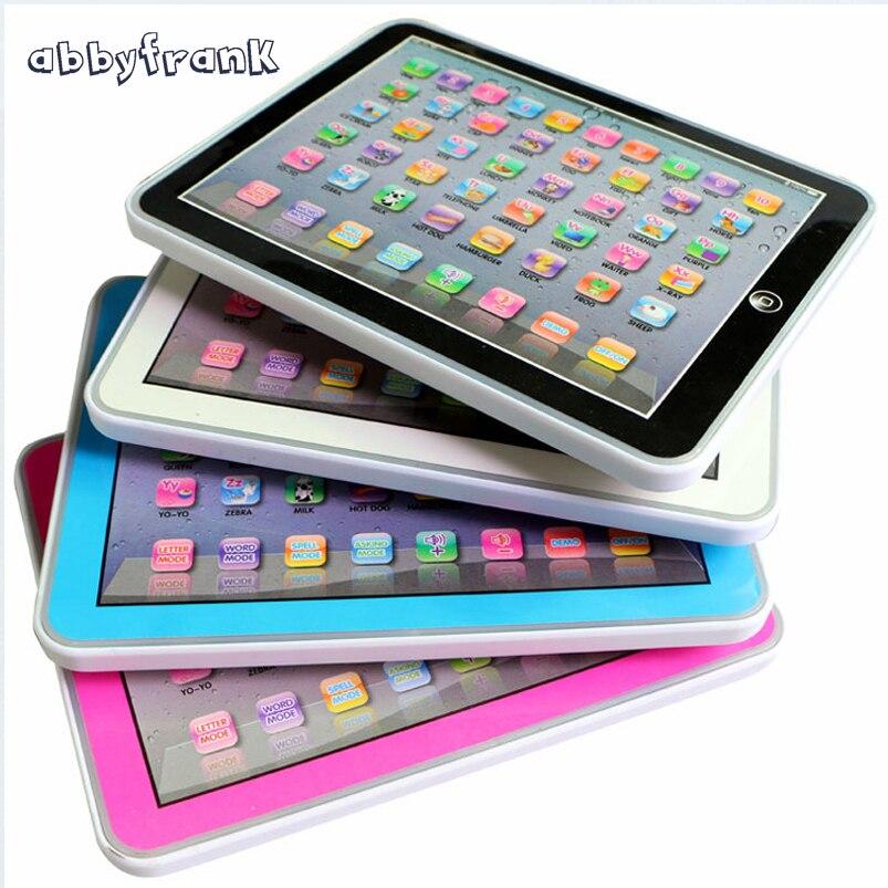 Abbyfrank inglés niños vocal Tablets Juguetes pa ledarning Herramientas portátil niños aprendizaje educación Juguetes para el bebé
