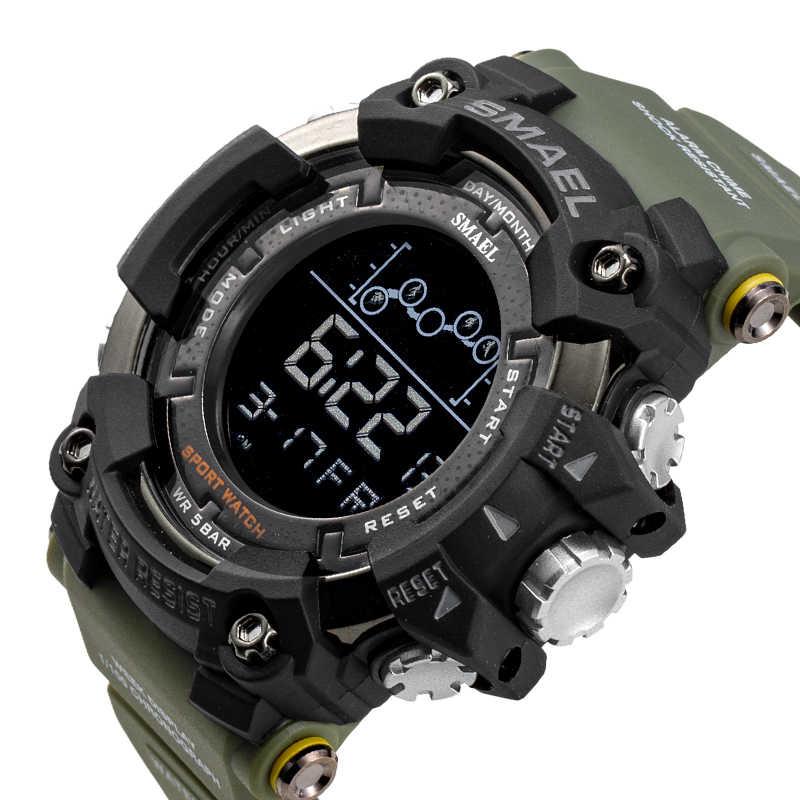 ساعة رجالية SMAEL عسكرية مقاومة للماء ساعة معصم رياضية ساعات توقيت رقمية للرجال 1802 ساعات عسكرية للرجال ساعة رجالية