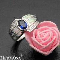 Big Promoção Adorável Branco Opala Australiana Sapphire925 Promessa Anel de Prata Esterlina Anéis De Casamento Tamanho 7 DF42