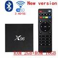Макс ОПЕРАТИВНОЙ ПАМЯТИ 2 ГБ 16 ГБ S905X X96 Android 6.0 TV Box Amlogic Quad Core 16.1 WIFI HDMI 2.0 4 К 2 К Smart Media Player Set top Box TV