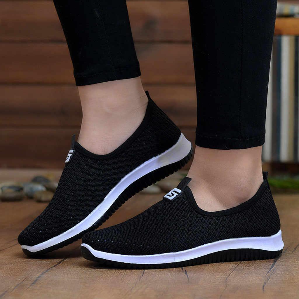 Kadın erkek ayakkabıları moda yumuşak nefes alan günlük ayakkabılar açık seyahat koşu ayakkabıları örgü düz ayakkabı yaz ayakkabı M40 #