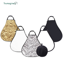 TRUMAGINE 80CM 5 in 1 Portable and collapsible Triangle Lighting Reflector For Photo Studio Shooting