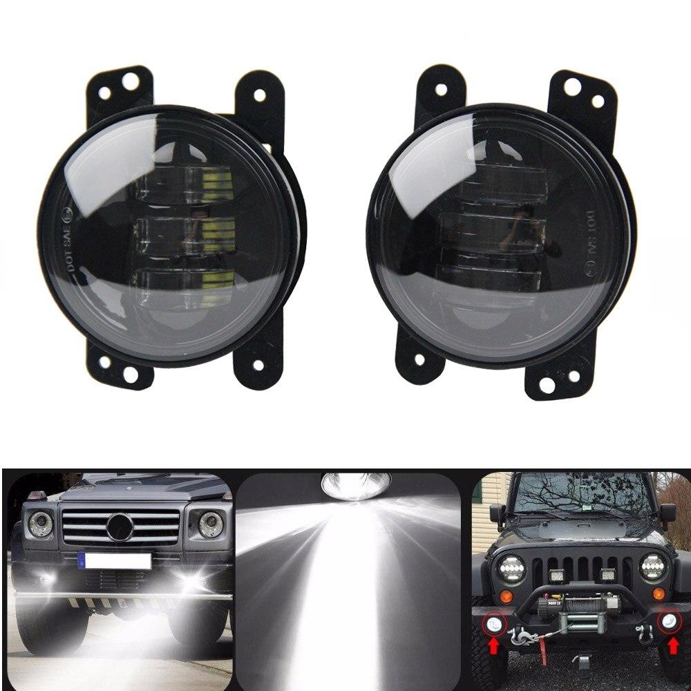 2 pcs 4 pouces LED Spot Brouillard 30 W Lampes Lumière Auxiliaire DRL Lumière Passant Lumière pour Jeep Wrangler JK CJ TJ