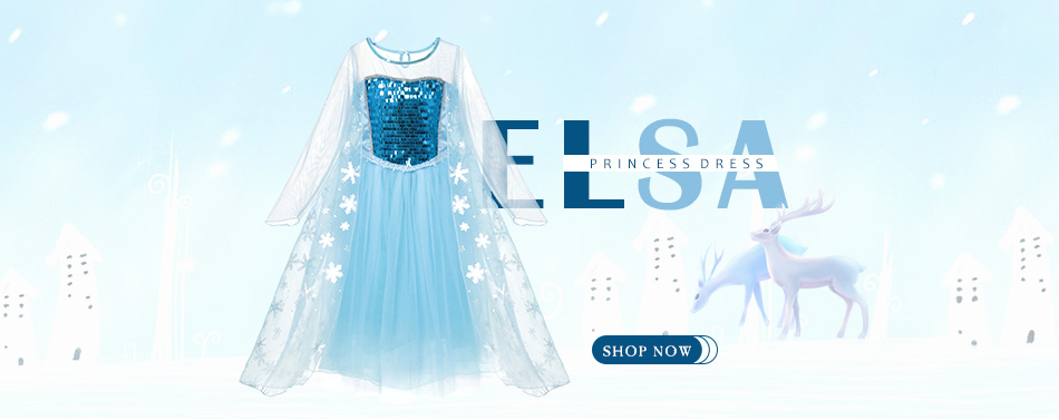 Elsa Sequined Princess Costume