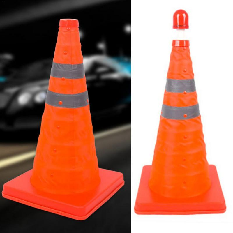 Image 2 - New Telescopic Traffic Cone Car Warning Sign Roadblock Reflective Cone Roadside Emergency Triangular Safety Sign Export-in Reflective Strips from Automobiles & Motorcycles