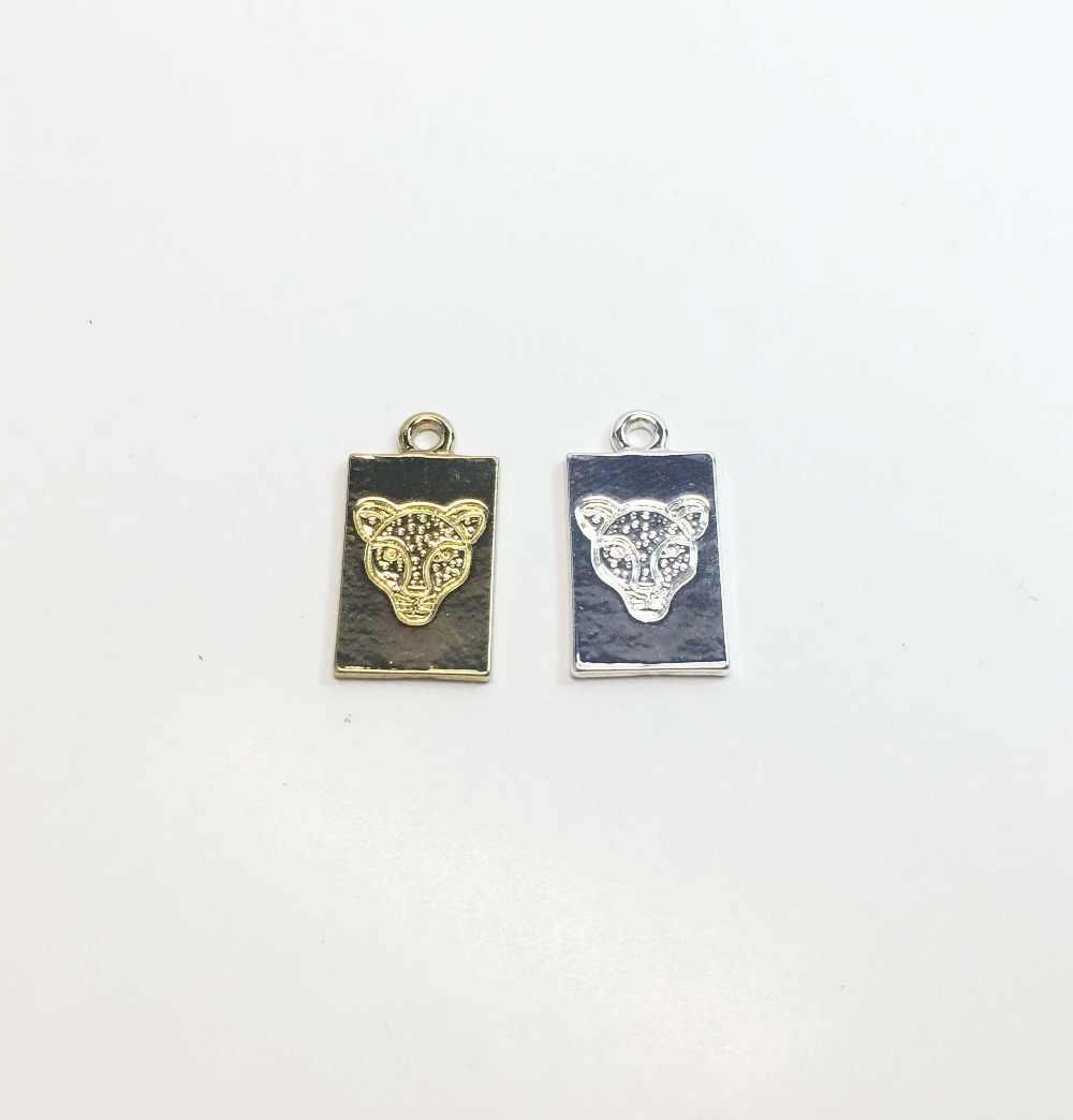 Eruifa Bela 10*18 milímetros BOI HornLeopard Ouvido Moeda 20 peças por saco de ouro/Prata liga de Zinco Encantos colar de pingente de Jóias DIY