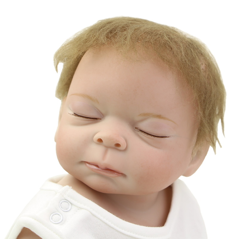 Lifelike Realistic Doll Baby Reborn 20 Inch Alive Silicone Vinyl Full Body Newborn Babies Girl Sleeping Toy Kids Bedtime Toy handmade girl american doll full body vinyl 18 inch princess girls doll real lifelike reborn alive toy kids birthday gift