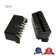 2pcs 16Pin OBD II Connector Female for Automotive Diagnostic Cable Plug Interfac