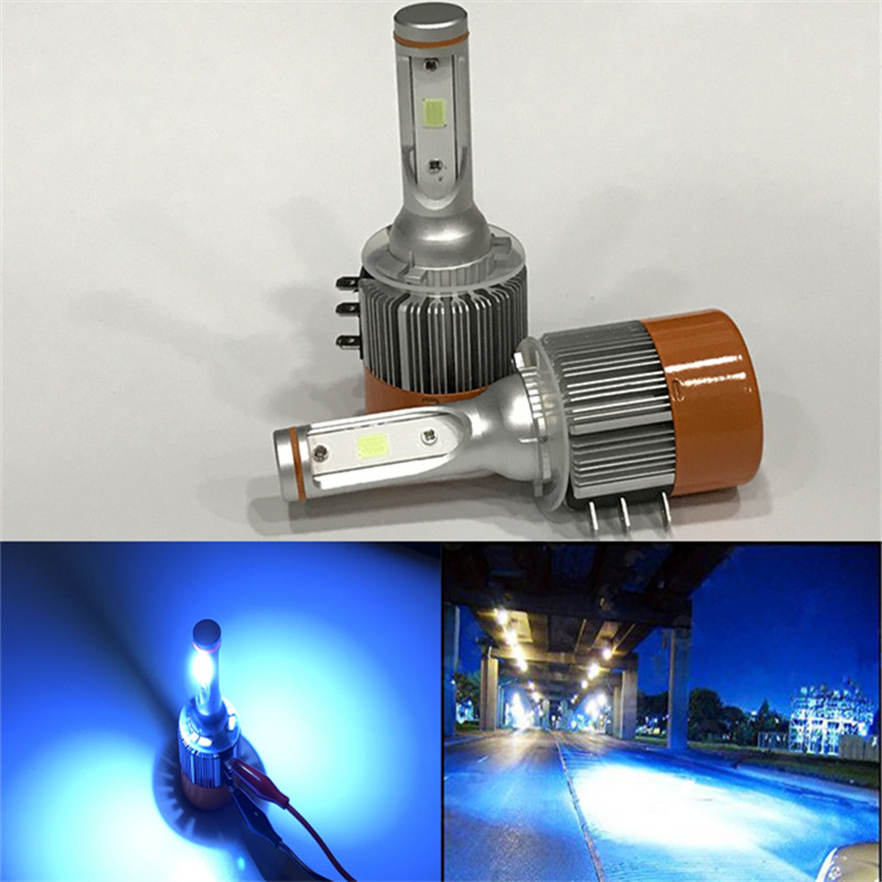 Hoping car ice blue H15 led bulb 72W 7600Lm  Headlight Lamp  Bulb DRL Car COB Light Sourcing deppa blue 72