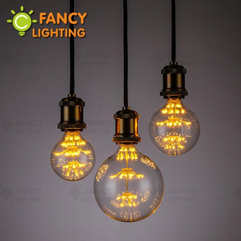 Led lamp G80/G95/G125 Starry Sky lamp E27 220V Dimmable decorative bombillas led for home/celebration/bedroom decor 3W lampa led
