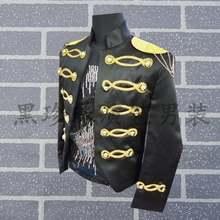 Мужской костюм черный с блестками