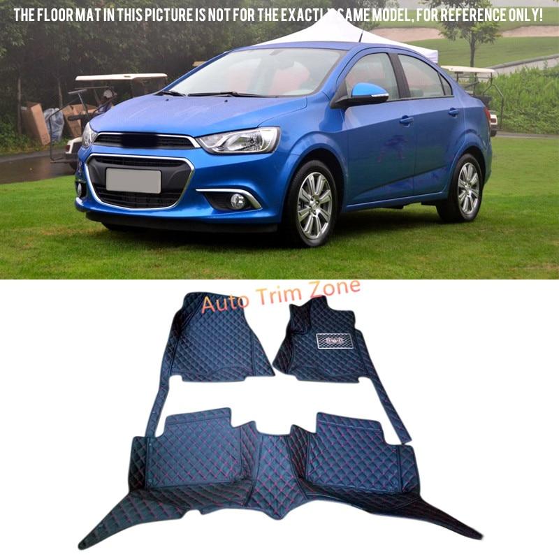 все цены на Black Interior Leather Floor Mat & Carpet For Chevrolet Aveo / Sonic 2012-2015 ( For Sedan Model) онлайн
