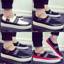 Explosion Models Free Shipping 2016 Autumn New Wild Male Slip-on Shoes Lazy Flat Canvas Shoes Men's Fashion Loafers Shoes Black