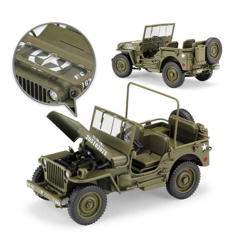 WELLY 1:18 Jeep Wills simulación aleación fuera de carretera aleación Retro Coche modelo clásico coche decoración de coche regalo