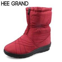 Hee Grand/плюс Размеры Гибкая Куба женские ботинки Высокое качество Уютный Теплые зимние сапоги на меху зимняя обувь Дамская обувь, модель XWX3375