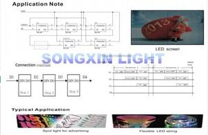 Image 4 - 100 stücke APA106 F5 5mm RGB LED Chips Integrierte RGB LEDs (wie WS2812B) APA106 runde hut Volle farbe LEDs