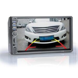 """Image 2 - Hippcron Radio samochodowe HD 7 """"ekran dotykowy Stereo 2 Din Bluetooth FM ISO zasilanie SD USB wejście Aux odtwarzacz Mp5 nie lub z kamerą"""