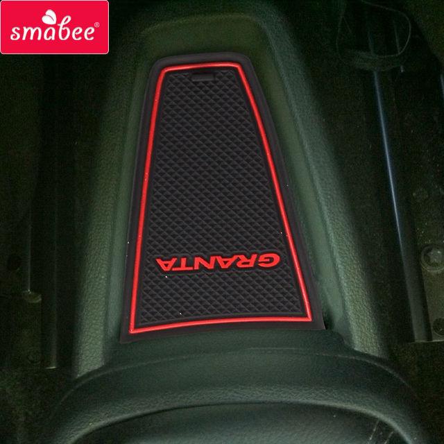 smabee Gate slot pad Interior Door Pad/Cup For LADA GRANTA  Non-slip mats red/blue/white mats