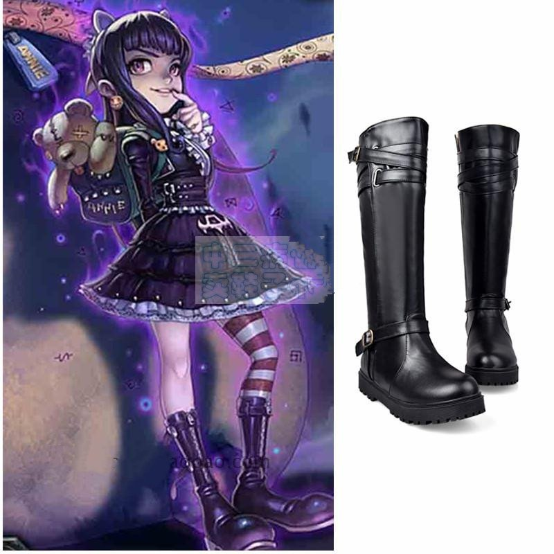 Game LOL Annie Cosplay Shoes Anime Gothic Lolita Annie the Dark Child Cosplay Shoes
