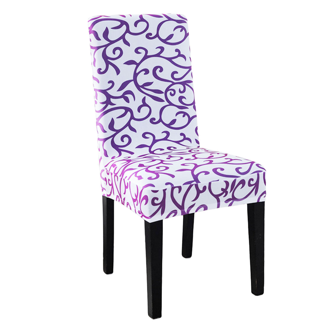 detail feedback questions about top sale 1pc sure fit soft stretch spandex pattern chair covers for kitchen chair housse de chaise short dining chair cover