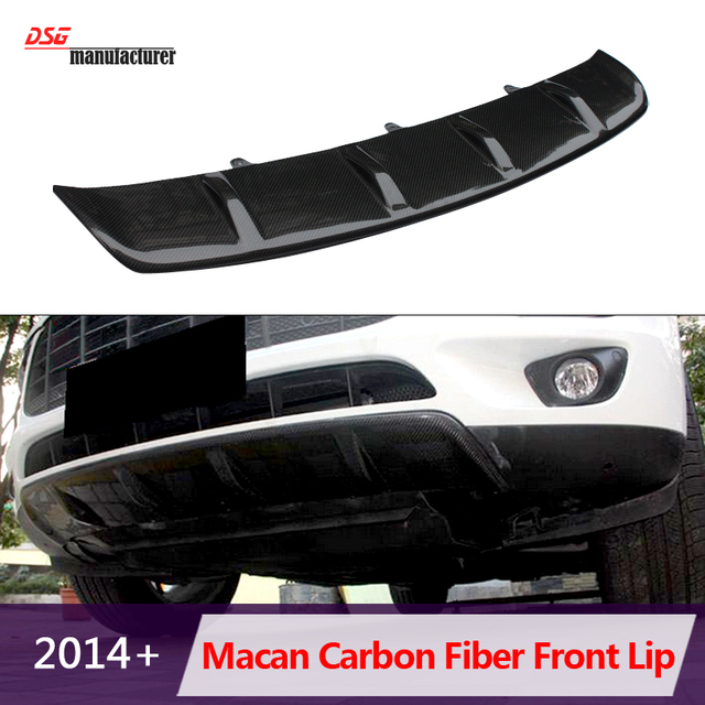 High Quality Add On Cf Carbon Fiber Front Bumper Chin Spoiler Lip