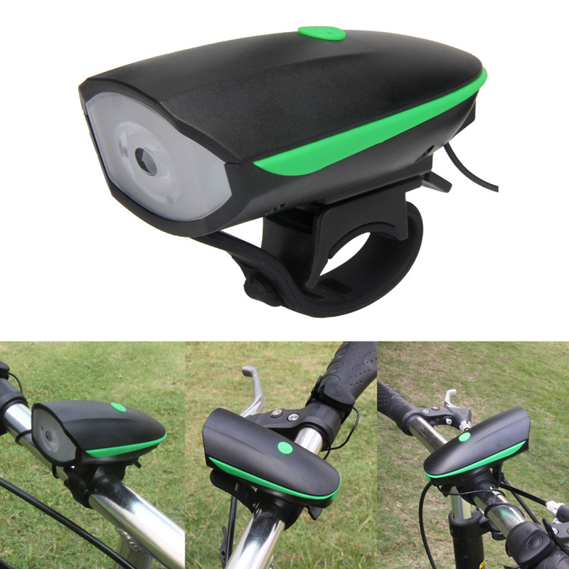 2 In 1 Rechargeable Bicycle Front Trail Frame LED Lights + Bike Cycling Handlebar Ring Bell Horn Bicycle Headlight Night light beetle shaped bike bell ring for outdoor cycling