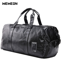 Men's Sports Bag Gym Handbag for Fitness Genuine Leather Corium Training Shoulder Bag Shoes Compartment