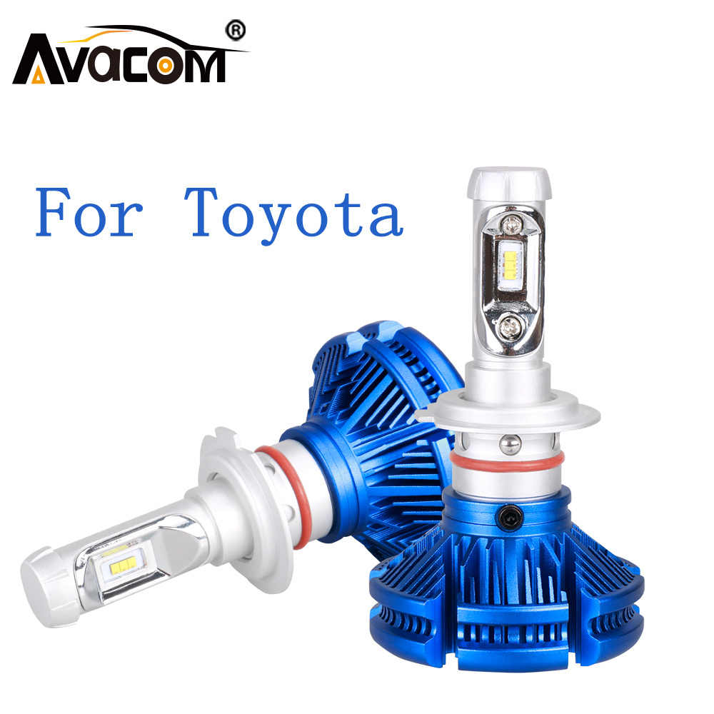 H1 LED Mini Car Bulb Headlight Trubo H3 H4 H7 H11/H8/H9 HB3 HB4 Hir2 12V 24V LED Auto Lamp For Toyota Corolla Camry Yaris Prius