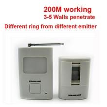 Door-Bell Alarm Sensor Body-Detection-Alarm Wireless-Sensor-Alarm with Function Working