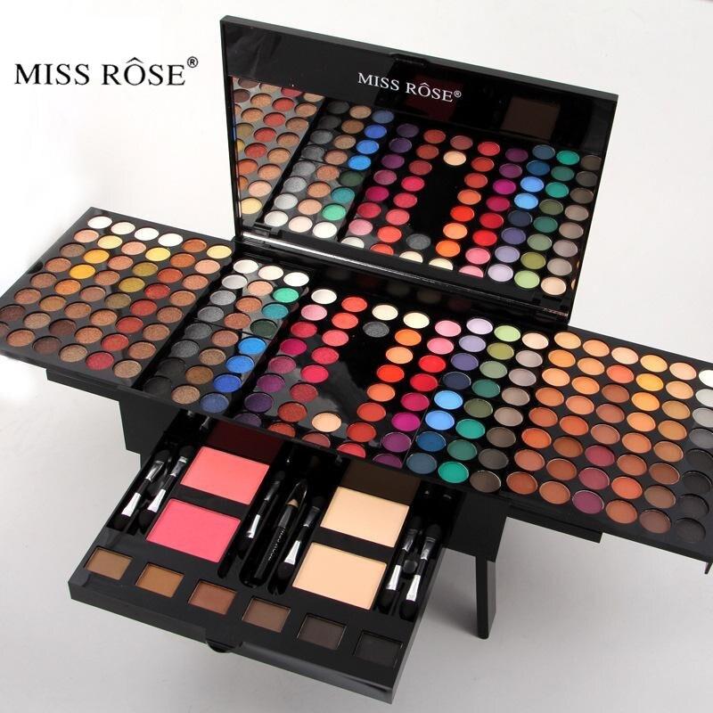 Miss Rose Makeup Set 180 Colors Matte Shimmer Eyeshadow Palette Professional Cosmetics Blush Eyebrow Contouring Makeup Kit miss rose professional makeup palette in