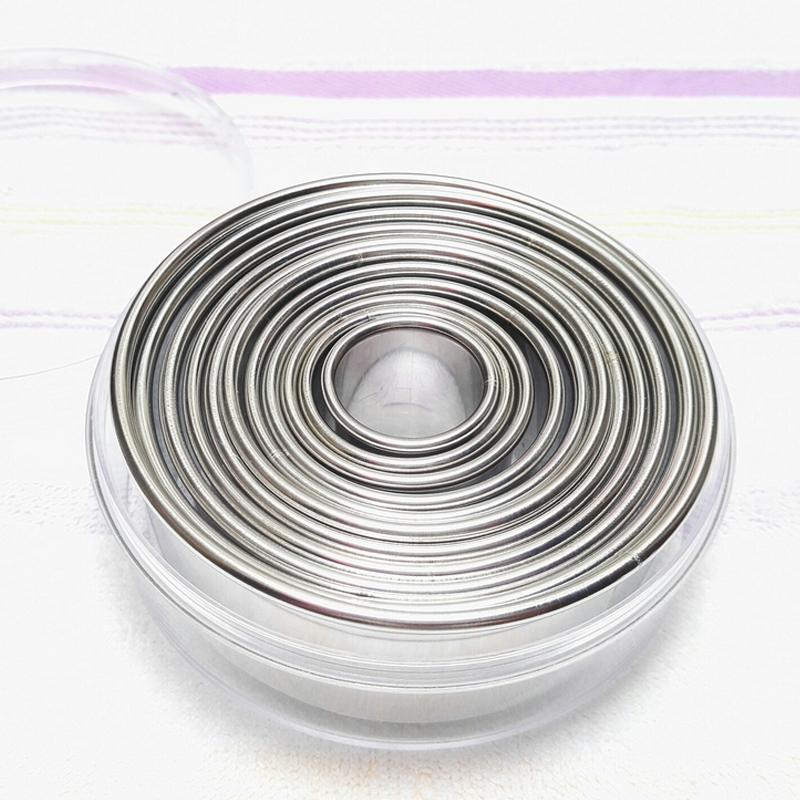 Stainless Steel Round Smooth Cookie Cutter Cake Decorating Tools Biscuit Mould Bakeware