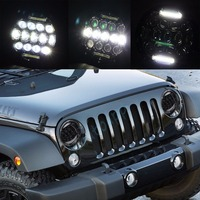 Offroad Light 7 Round LED Headlight DRL Turn Signal Lights Hi Lo Beam For Jeep Wrangler